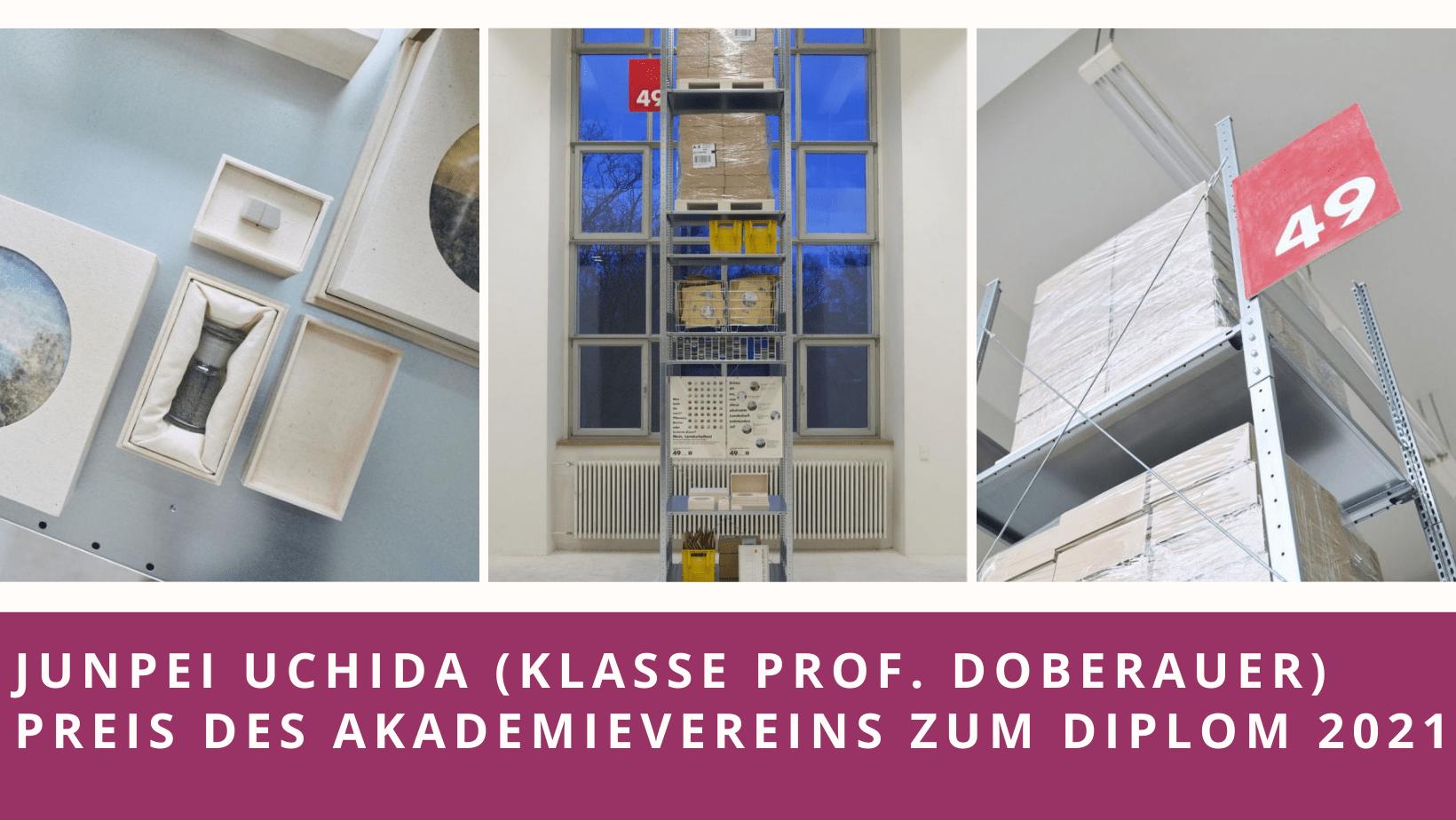 Junpe Uchida (Klass Prof. Doberauer) erhält Preis des Akademievereins zum DIplom 2021